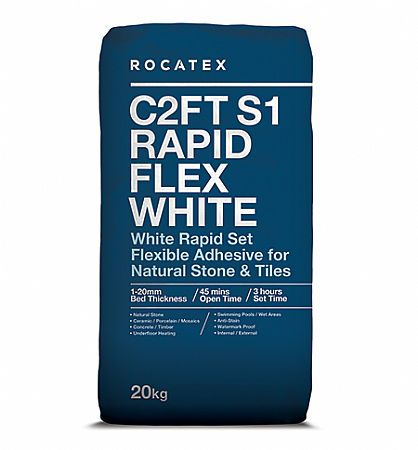 Rocatex Rapidset Flexible White S1 Adhesive
