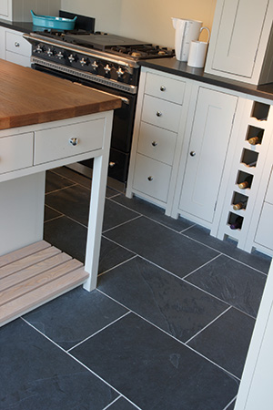 Black Natural Riven Slate Tiles