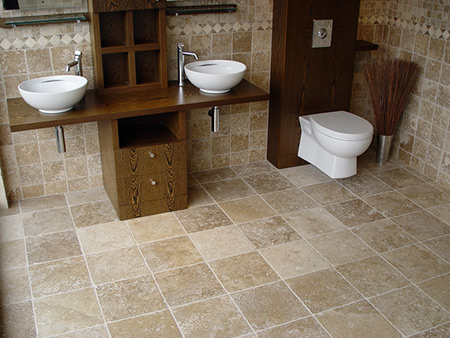 Noce Tumbled Travertine Tiles